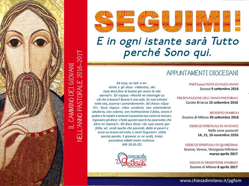 Manifesto anno pastorale 2016-2017 - «Seguimi!»