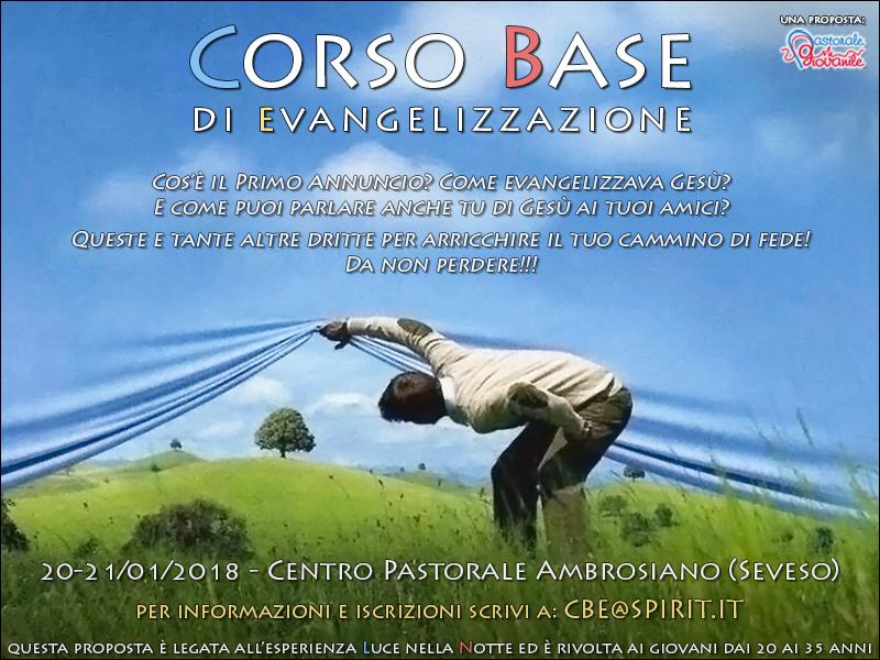 Corso base di evangelizzazione 2018