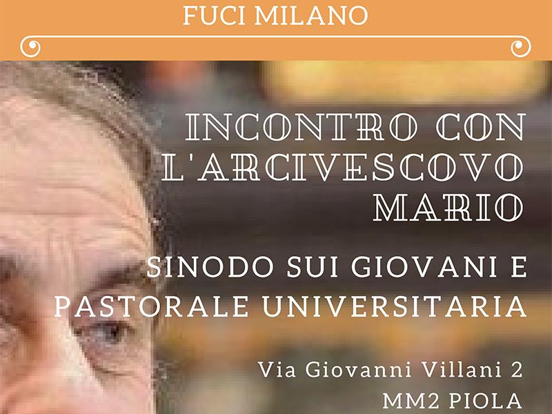 FUCI - Incontro con l'Arcivescovo Mario 2018