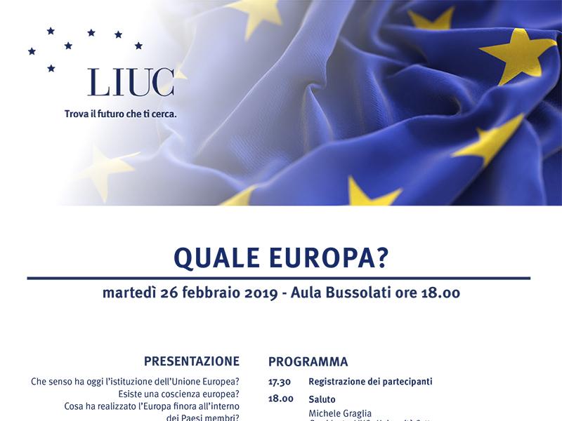 LIUC - Convegno Quale Europa