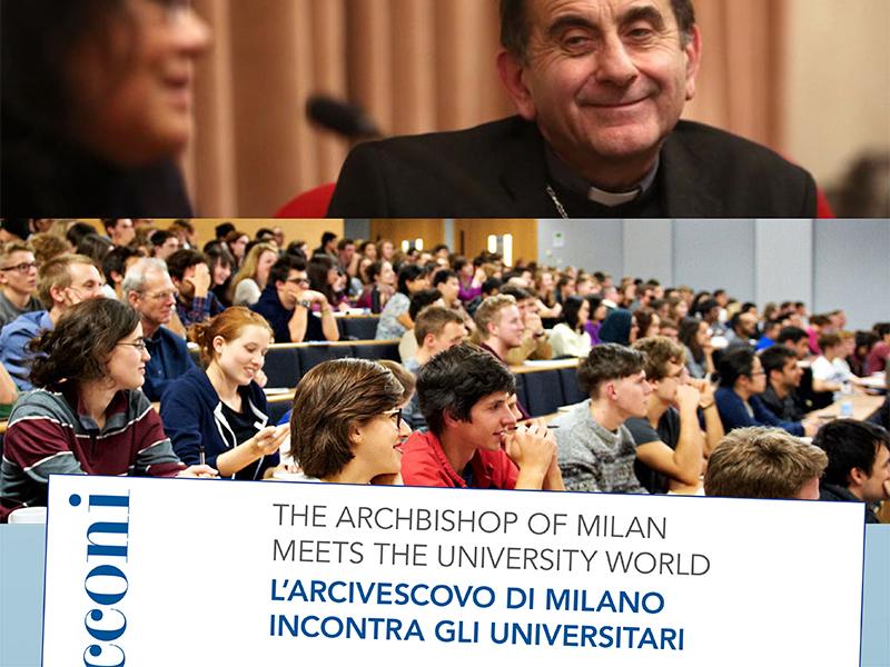 L'Arcivescovo di Milano incontra gli universitari 2019