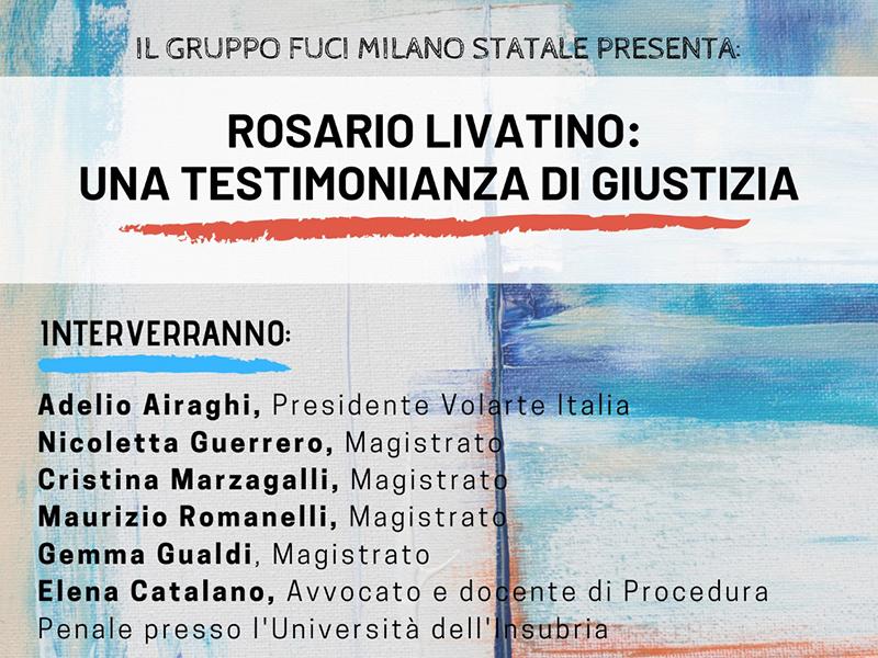 Gruppo FUCI Milano Statale - Rosario Livatino