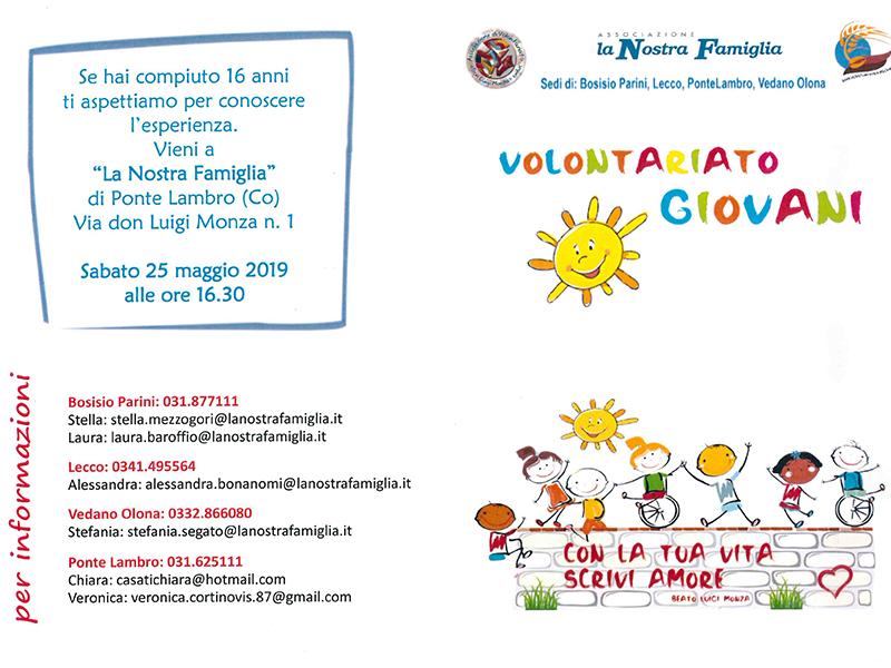 La Nostra Famiglia - Volontariato Lombardia estate 2019