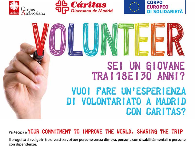 Volontariato a Madrid con Caritas Ambrosiana