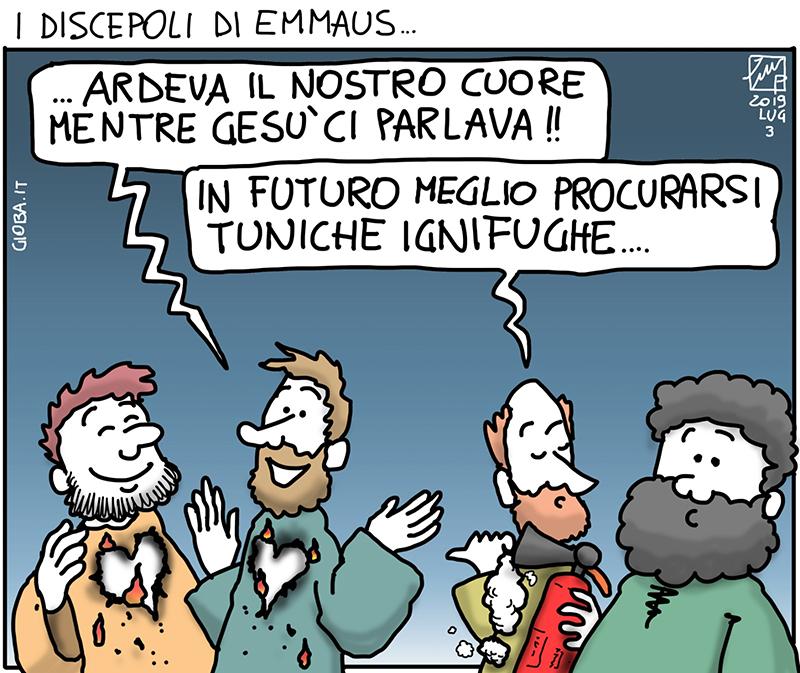 Annunciare - vignetta di don Giovanni Berti