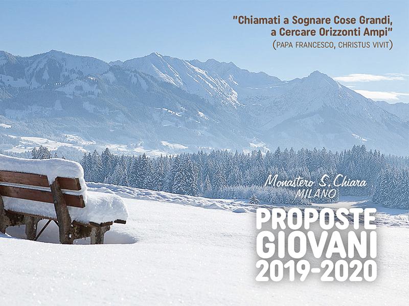 Monastero S. Chiara Milano - Proposte giovani 2019-2020