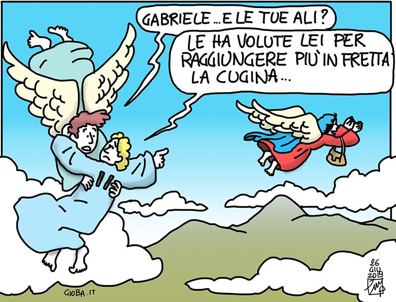 Partire - vignetta di don Giovanni Berti