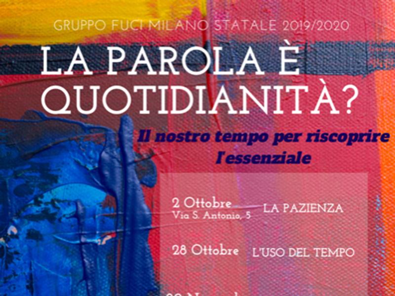 Gruppo FUCI Milano Statale - La Parola è quotidianità