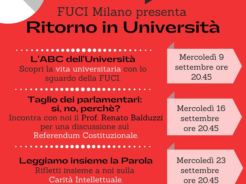 FUCI Milano - Ritorno in Università