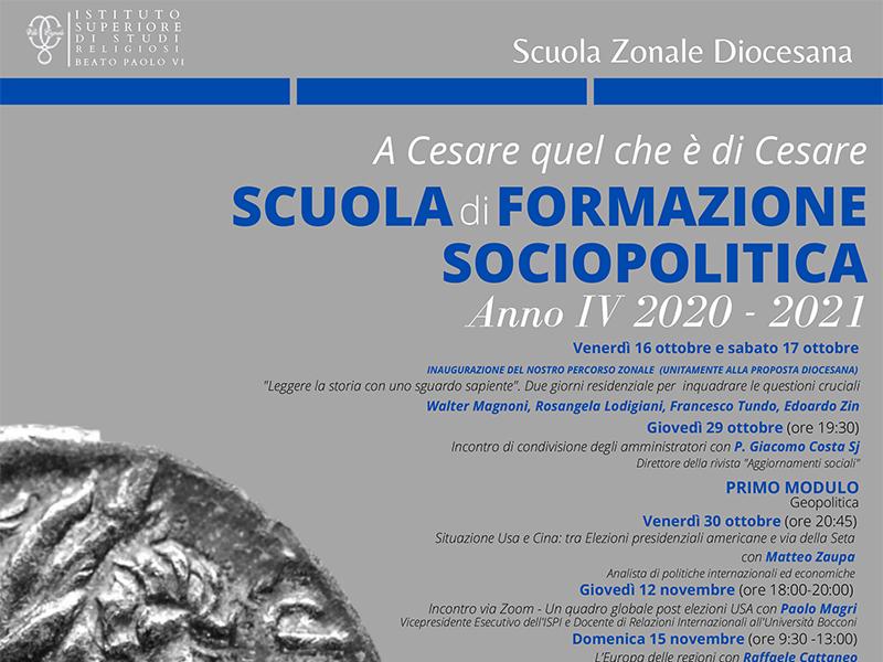 Scuola formazione sociopolitica 2020-2021 - Villa Cagnola