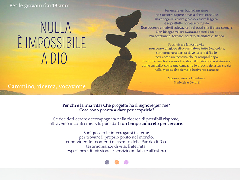 Discepole del Vangelo - Nulla è impossibile a Dio 2021-2022