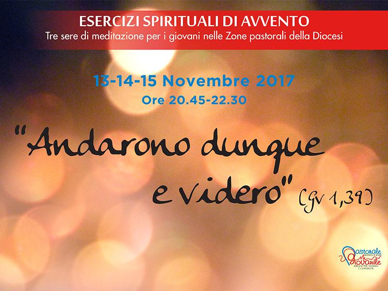 Esercizi spirituali di Avvento per i giovani: «Andarono dunque e videro» (Gv 1,39)
