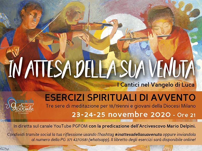 Gli Esercizi spirituali di Avvento per i giovani online con l'Arcivescovo