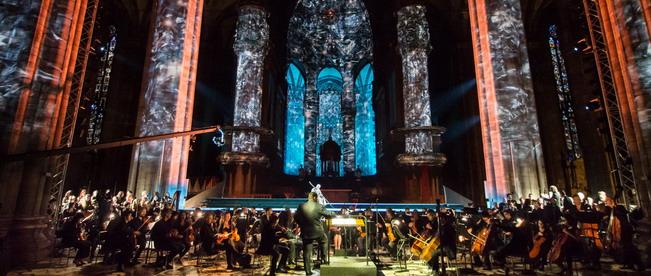 Rossini Mosè Duomo videomapping