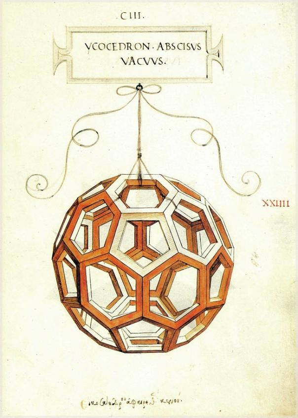 Icosaedro Leonardo Ambrosiana Pacioli
