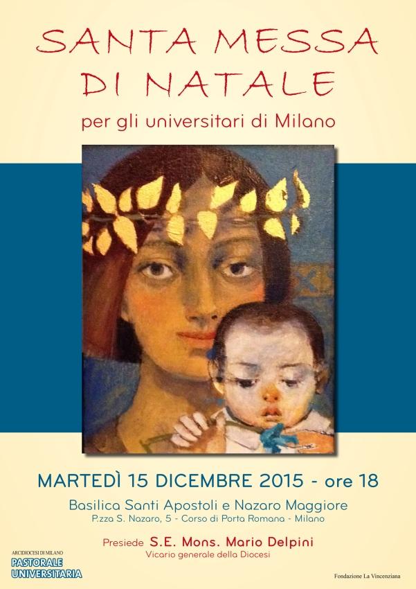 S. Messa di Natale per gli universitari 2015
