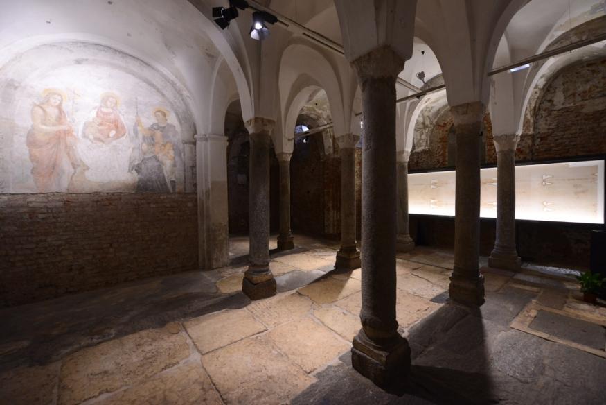 cripta San Sepolcro inaugurazione scola