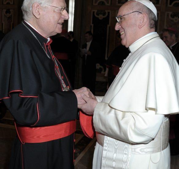 Scola con Papa Francesco