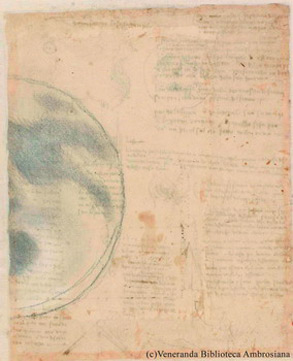 Leonardo Luna Codice Atlantico