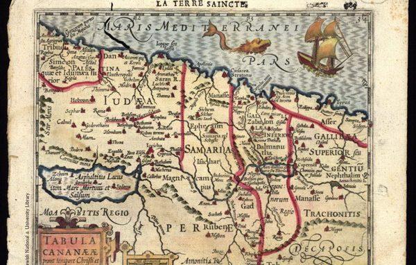 Mappa Terra Santa Mercatore