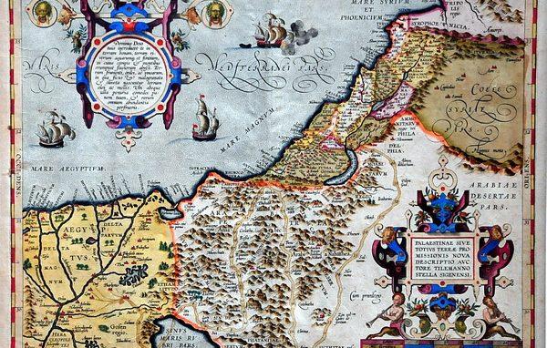 Mappa Terra Santa Ortelio