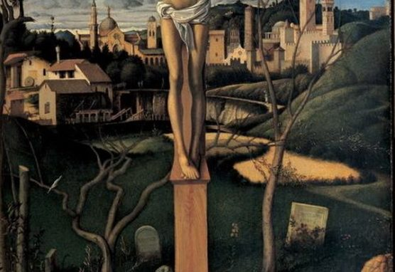 Giovanni Bellini Crocifisso cimitero ebraico 1501