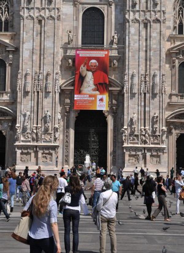 Stendardo in Duomo