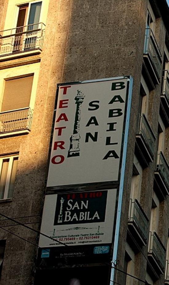 insegna teatro San Babila