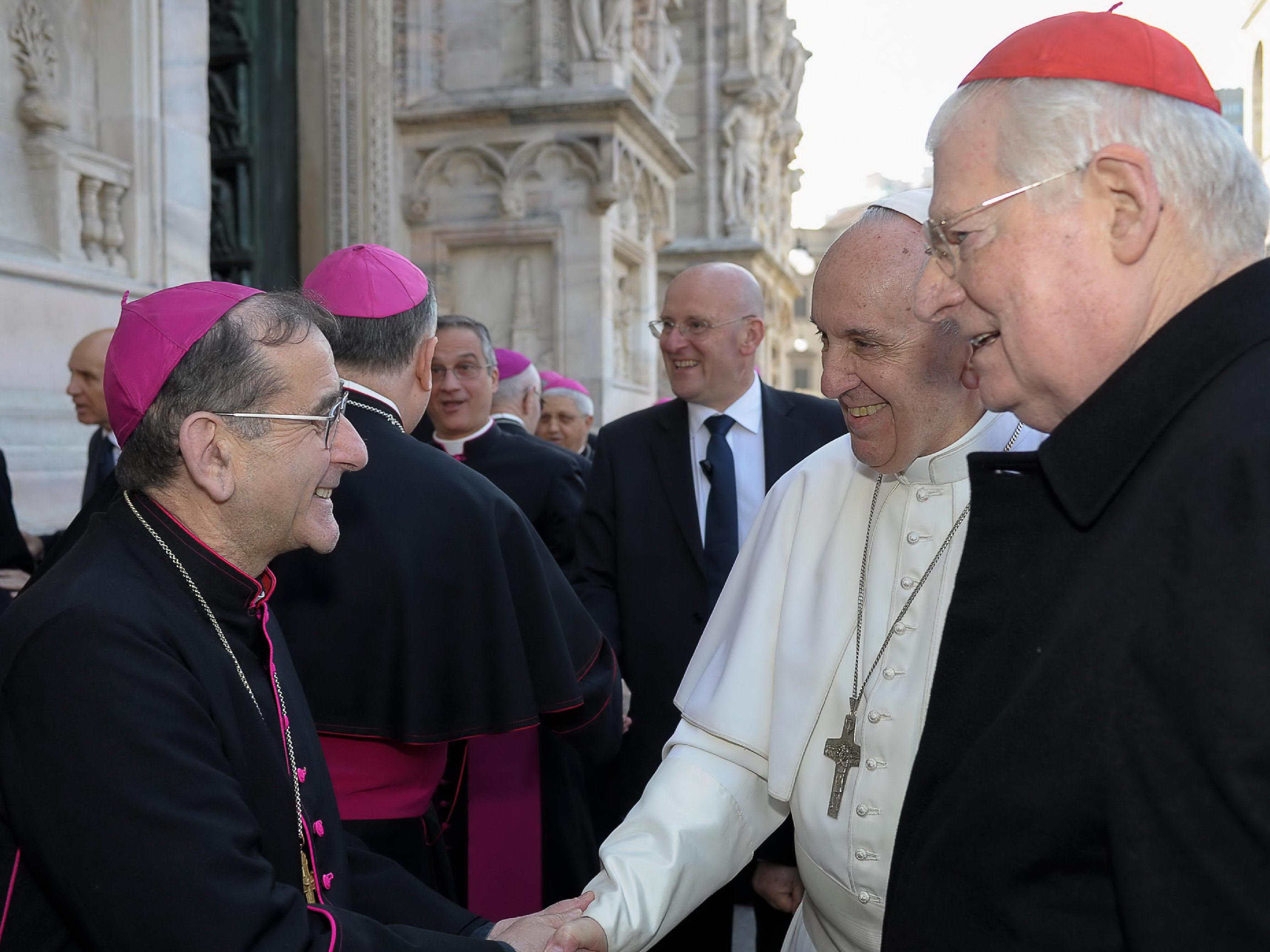 Delpini, papa Francescoe e Scola