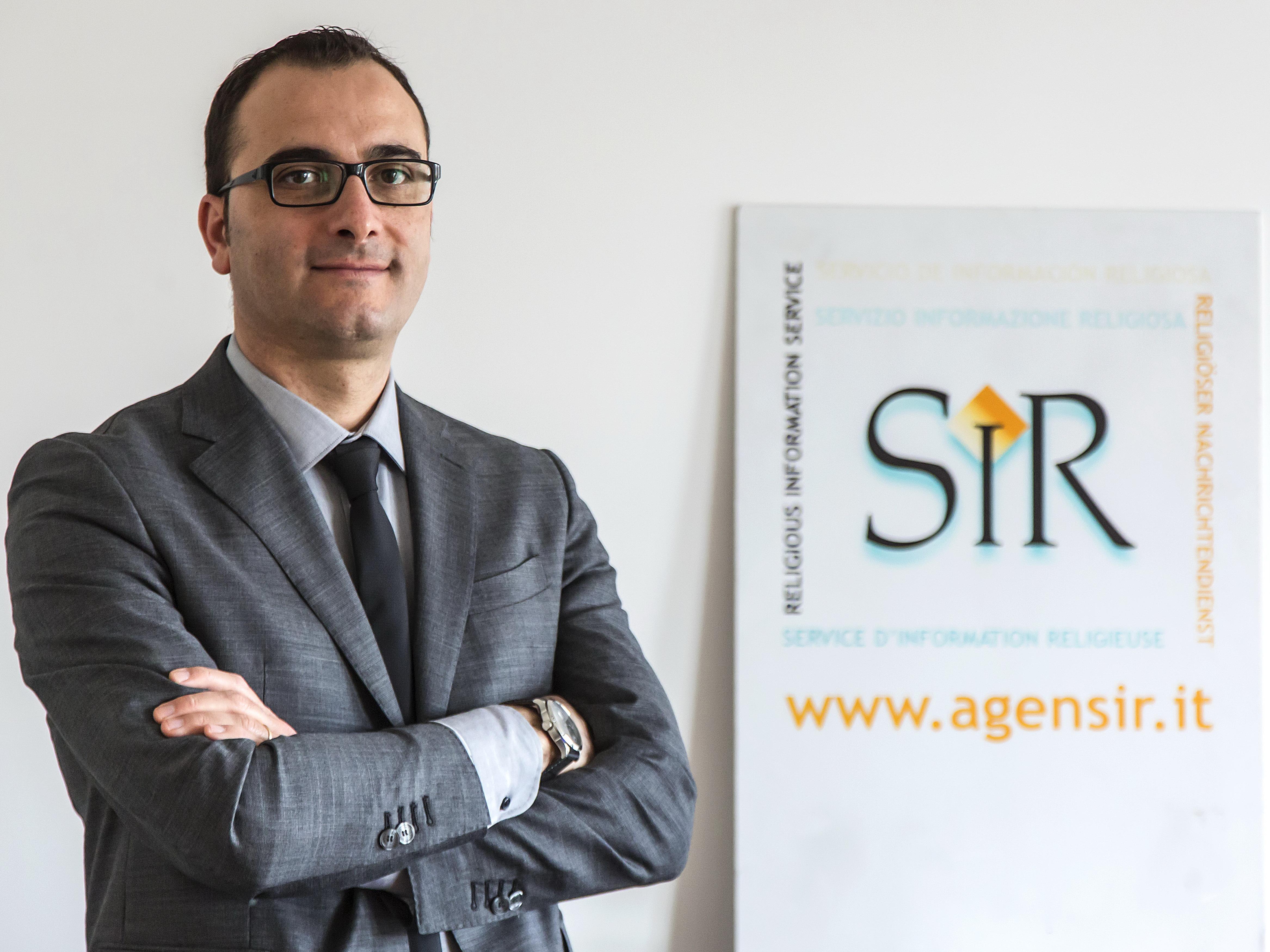 Roma, 24-03-2017.Vincenzo Corrado, nuovo direttore del SIR.