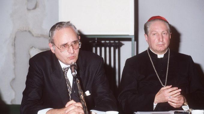 prof. giuseppe laras rabbino capo di milano con carlo Maria Martini