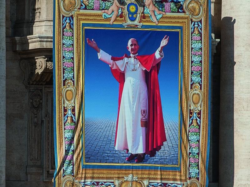 arazzo Paolo VI beato