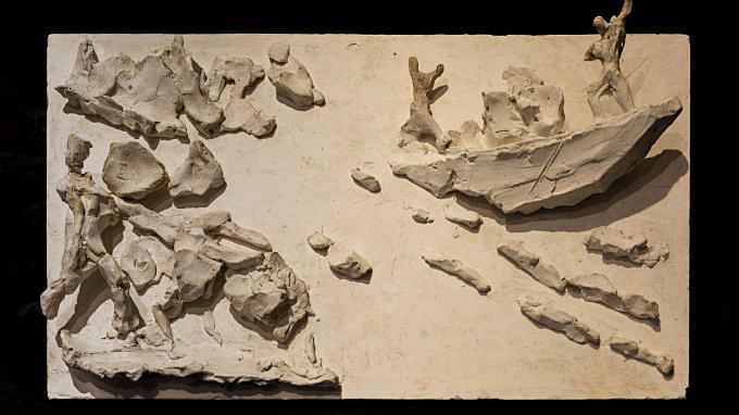 3. Trasporto del marmo di Candoglia - Bozzetto della V Porta - Lucio Font - Copia