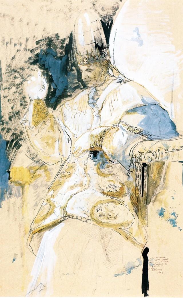 Lello Scorzelli, PaoloVI con tiara (1963)
