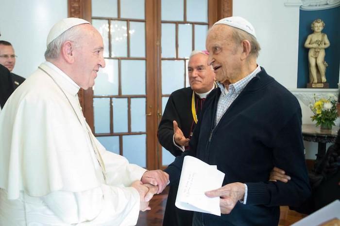 padre De Censi con papa Francesco