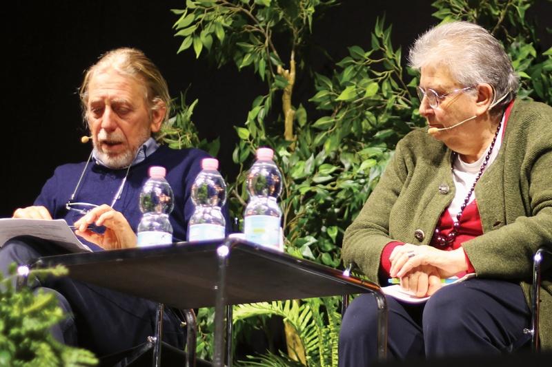 Franco Bonisoli e Agnese Moro