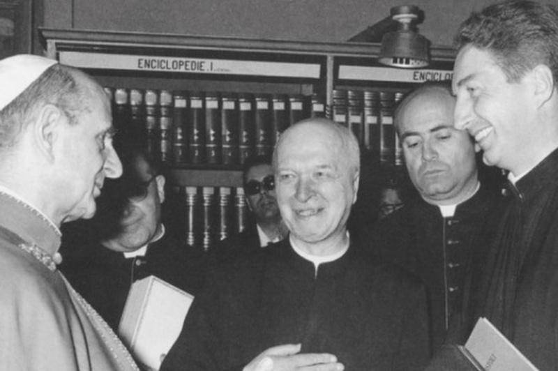 Padre Martini con Paolo VI