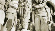 Coppi e Bartali con la fiaccola del 1948