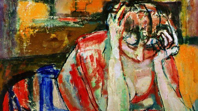 7_67_Donna assorta nella lettura_Guido Pajetta_1955