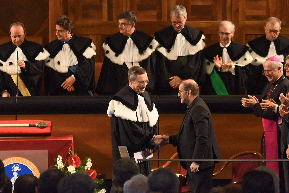 honoris causa Mario Draghi