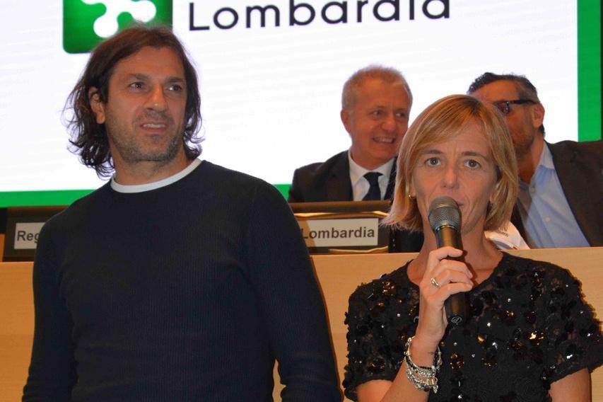 Clara Mondonico con Gianluigi Lentini