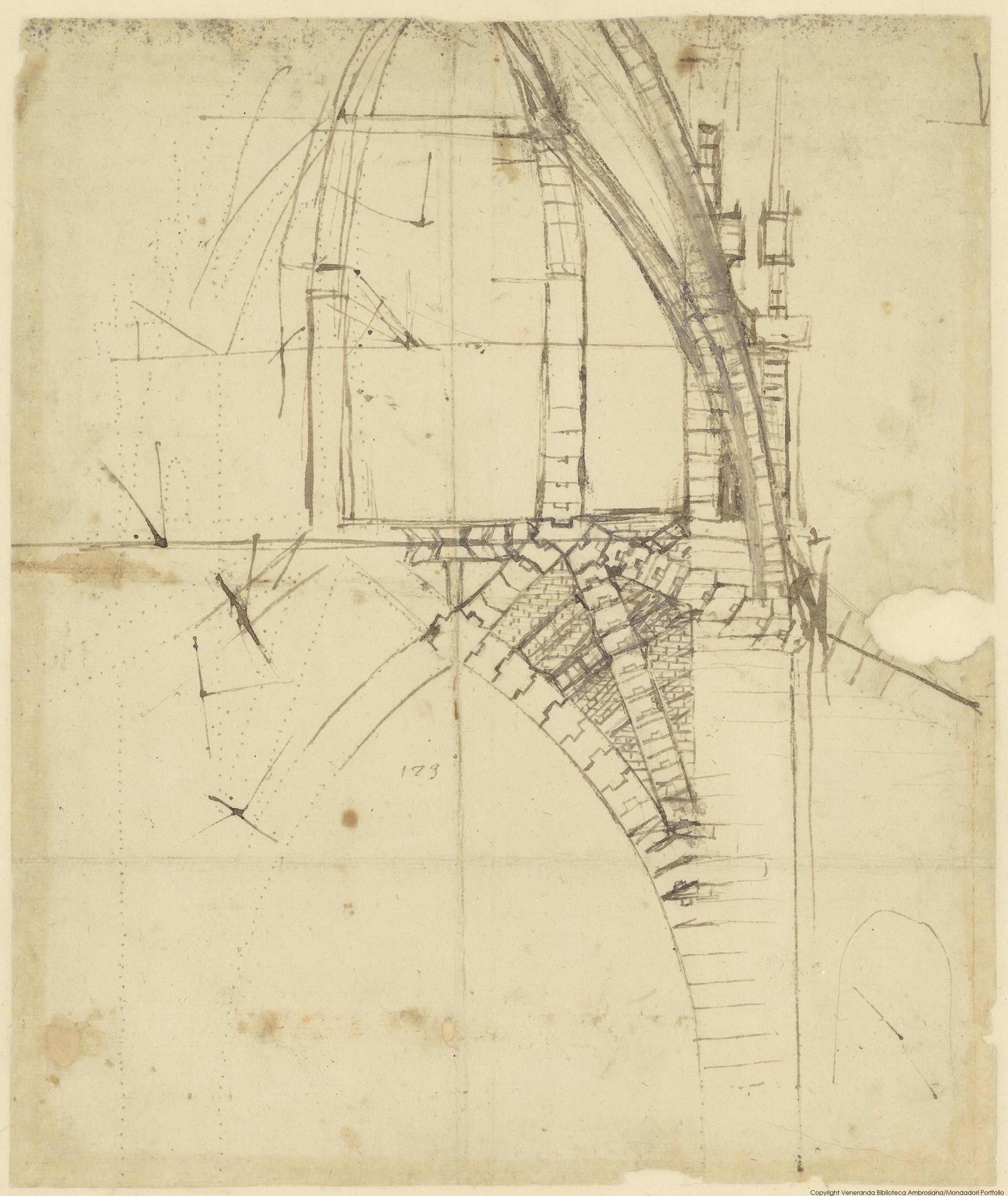 2 Sezione del tiburio del Duomo, Biblioteca Ambrosiana