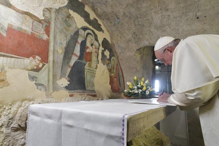 Papa Francesco a Greccio