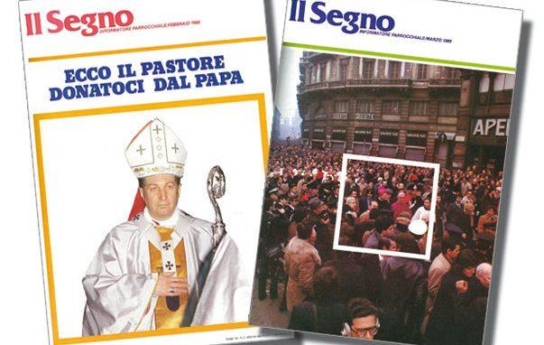 Le copertine dei numeri di febbraio e marzo 1980 che «Il Segno» dedicò al nuovo Arcivescovo
