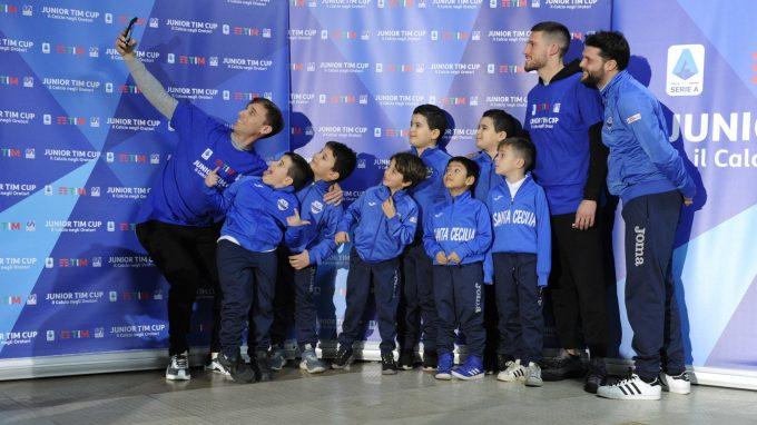 Junior TIM Cup Milano selfie