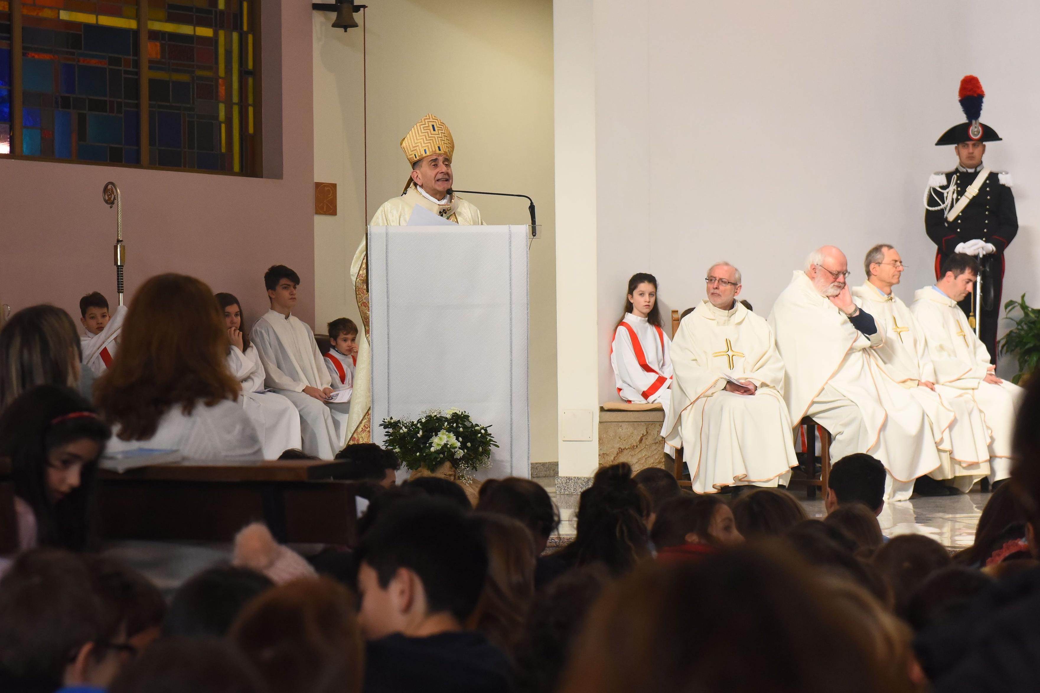 Delpini_Visita pastorale Arese
