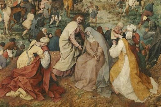 Pieter Bruegel, «Salita al Calvario» (particolare)