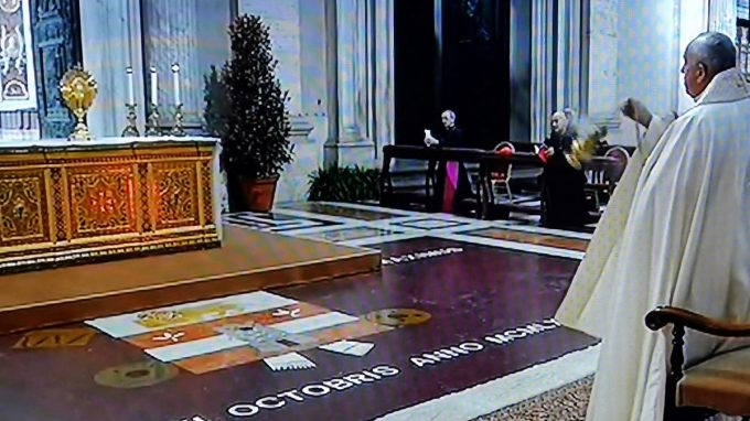 papa preghiera per umanita coronavirus WAAABQ