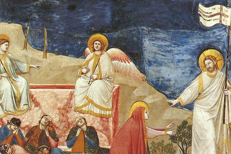 Giotto_-_Scrovegni_-_-37-_-_Resurrection_(Noli_me_tangere) Cropped