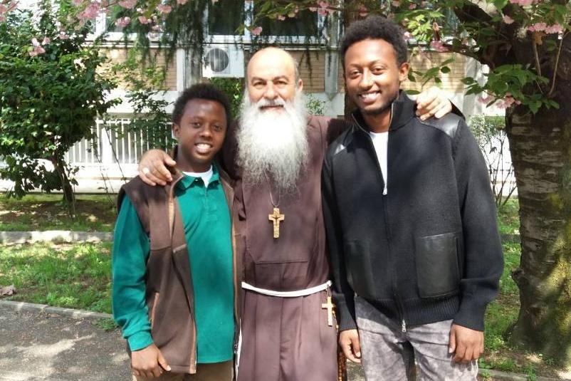 Tewodros e Abyi e Mons. Pagano
